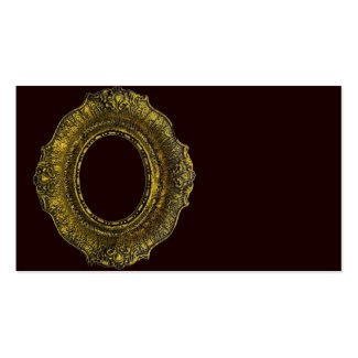 Antique Gold Picture Frame Business Card Template