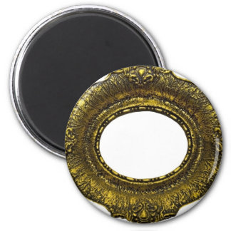 Antique Gold Picture Frame 2 Inch Round Magnet