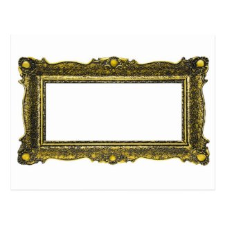 Antique Gold Picture Frame Postcard