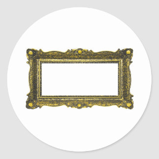 Antique Gold Picture Frame Stickers