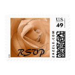 Antique Gold Rose RSVP Stamp - Customizable