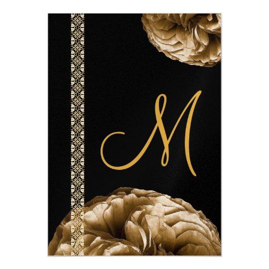 Antique Gold Roses & Lace Wedding Announcements