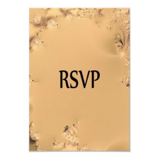 Antique Gold RSVP 3.5x5 Paper Invitation Card