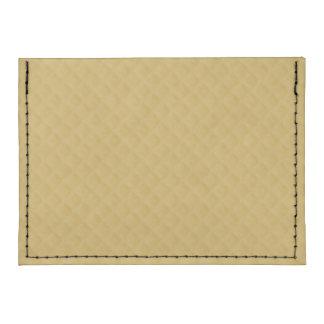 Antique Gold Stitched Quilt Pattern Tyvek® Card Wallet