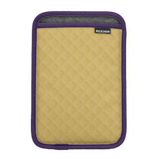 Antique Gold Stitched Quilt Pattern Sleeve For iPad Mini