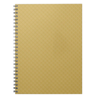 Antique Gold Stitched Quilt Pattern Notebooks