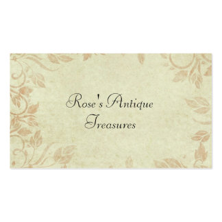 Antique Gold Viintage Floral Vine Wedding Double-Sided Standard Business Cards (Pack Of 100)