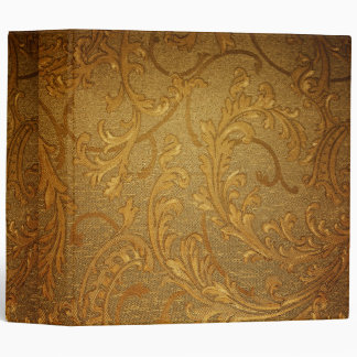 Antique,gold,vintage,damask,victorian,floral Vinyl Binder