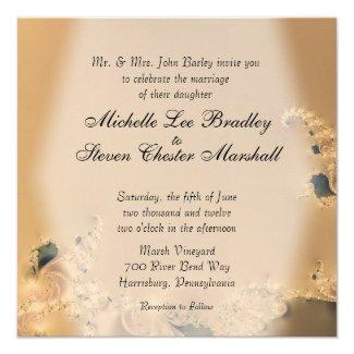 Antique Gold Wedding Invitations