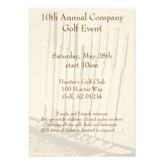 Antique Golf Clubs Event Invitations
