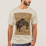 Antique Grand Piano on Vintage Music Sheet T-Shirt