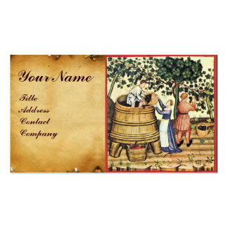 ANTIQUE GRAPE VINEYARD HARVEST WAX SEAL MONOGRAM Double-Sided STANDARD BUSINESS CARDS (Pack OF 100)