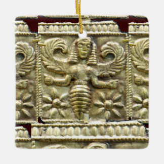 ANTIQUE GREEK HONEY BEE GODDESS CERAMIC ORNAMENT