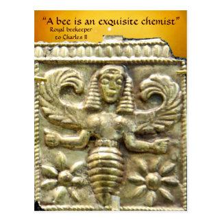 ANTIQUE GREEK HONEY BEE GODDESS POSTCARD