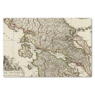 "Antique Greek Map 10"" X 15"" Tissue Paper"