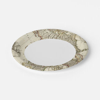Antique Greek Map Paper Plate