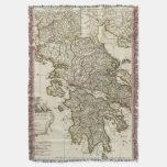 Antique Greek Map Throw Blanket