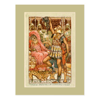 Antique Greek Myths Perseus by Walter Crane Postcard
