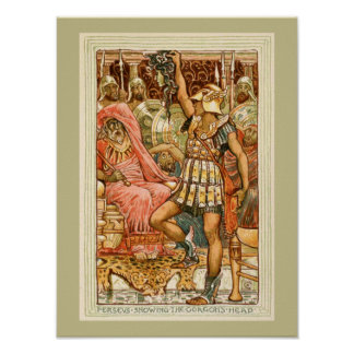 Antique Greek Myths Perseus by Walter Crane Poster