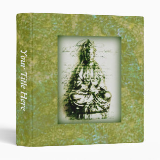 Antique Green Kwan Yin binder