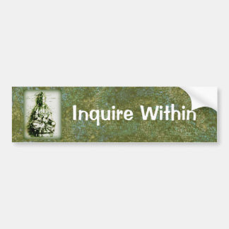 Antique Green Kwan Yin bumpersticker Bumper Sticker