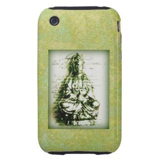 Antique Green Kwan Yin iPhone3 case iPhone 3 Tough Covers