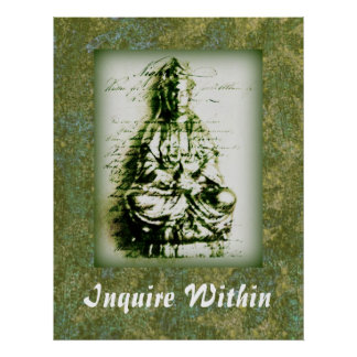 Antique Green Kwan Yin poster