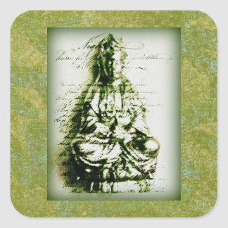 Antique Green Kwan Yin sticker