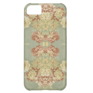 Antique Green Print Cover For iPhone 5C