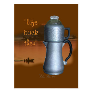 Antique GS Coffee Pot{early morning} -customize it Postcard