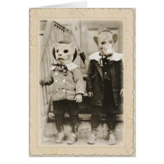 Antique Halloween   ~Edgar Allan Poe Card