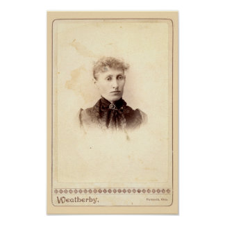 Antique Halloween Haunted Portrait - Eleanor Poster