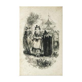 Antique Halloween Witch Canvas Print