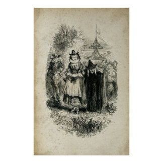 Antique Halloween Witches Poster