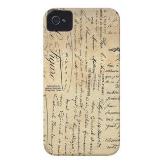 Antique Handwriting Phone Case iPhone 4 Case-Mate Case