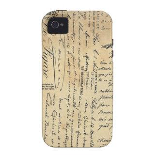 Antique Handwriting Phone Case Vibe iPhone 4 Cases