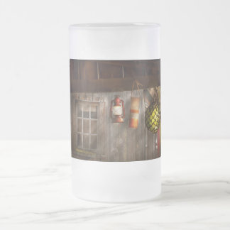 Antique - Hanging around Frosted Glass Beer Mug