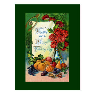 Antique Happy Thanksgiving Postcard Reproduction