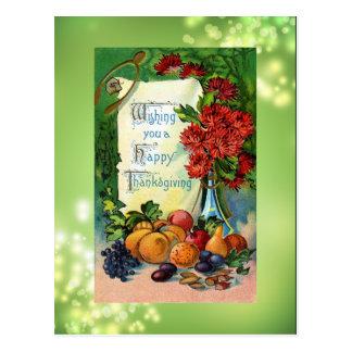 Antique Happy Thanksgiving Postcard Reproduction