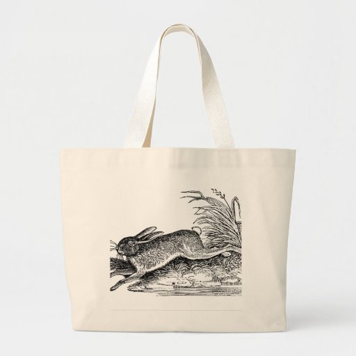 Antique Hare or Rabbit on Tote Bag