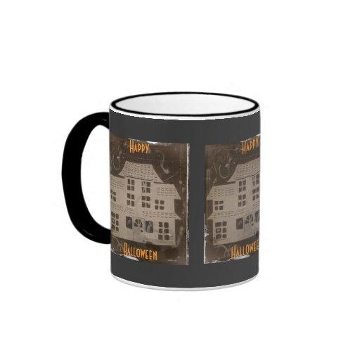 Antique Haunted House Coffee Mugs