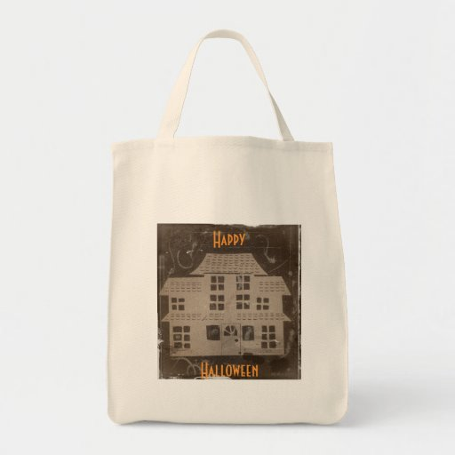 Antique Haunted House Grocery Tote Bag