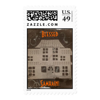 Antique Haunted House Halloween/Samhain Postage
