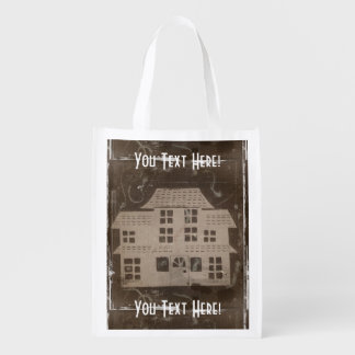 Antique Haunted House Market Totes