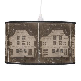 Antique Haunted House Spooky Gothic Pendant Lamp