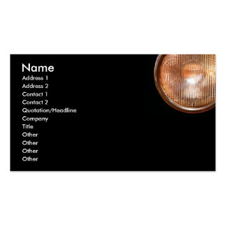 Antique headlamp on dark black background Double-Sided standard business cards (Pack of 100)