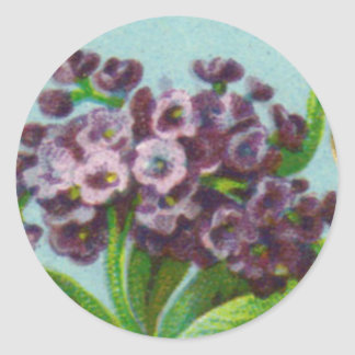 Antique Heliotrope French Perfume Round Sticker