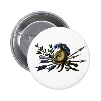 Antique Helmet and Weapons Pinback Button