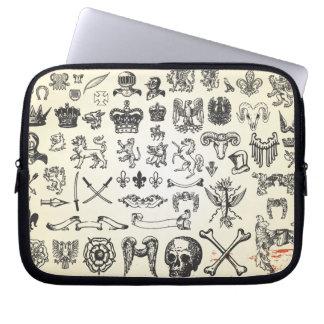 Antique-Heraldic-Graphics digital assortment shape Laptop Sleeve