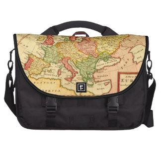 Antique Herman Moll Map of Europe Laptop Computer Bag